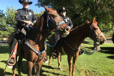 The Boulder City Police Mounted Unit needs a new, permanent training facility and is raising mo ...