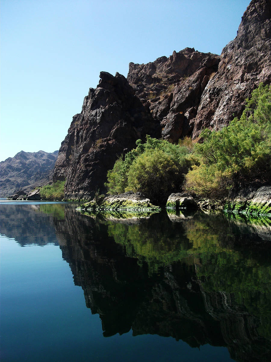 (Deborah Wall) Boating in Black Canyon in the Lake Mead National Recreation Area is a smooth-wa ...