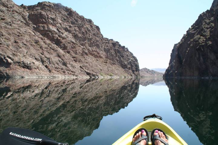 (Deborah Wall) The entire 30-mile long Black Canyon National Water Trail runs from Hoover Dam s ...