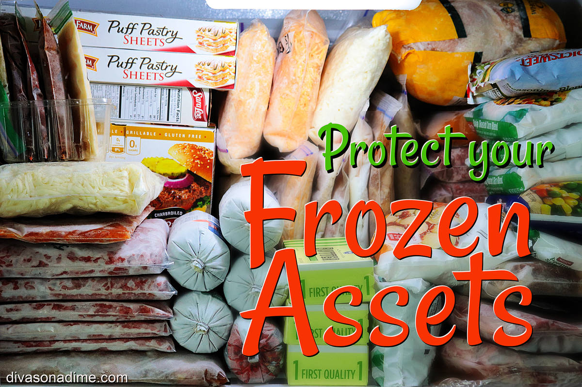 (Patti Diamond) Properly wrapping and labeling food items before putting them into the freezer ...