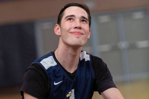 Ethan Speaker, a senior at Boulder City High School, is glad to be back on the basketball court ...