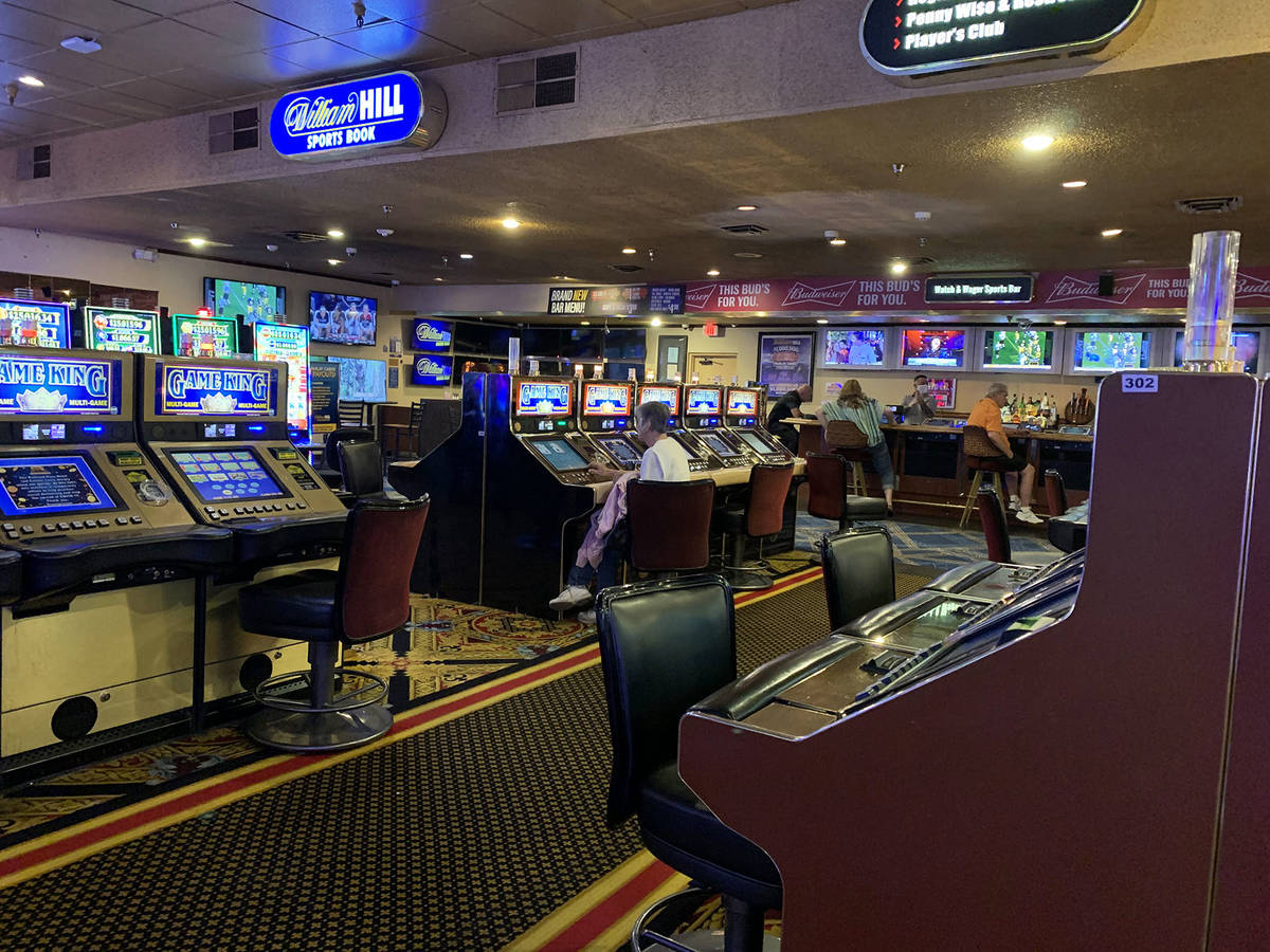 (Hali Bernstein Saylor/Boulder City Review) Chairs have been removed and slot machines remain t ...