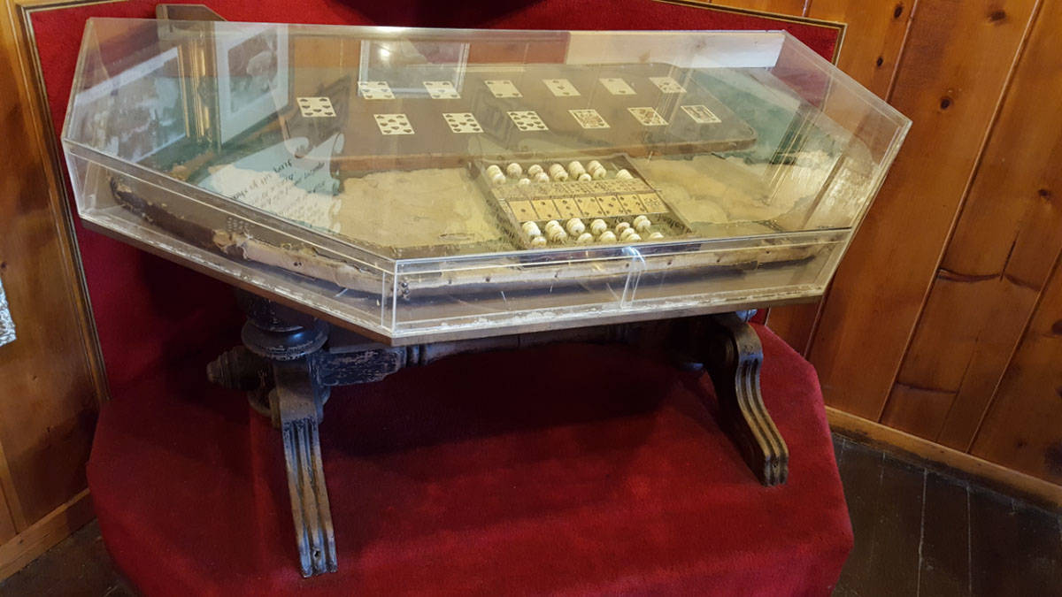 """(Dave Maxwell) The """"Suicide Table"""" in Virginia City, Nevada, may be cursed. Stori ..."""