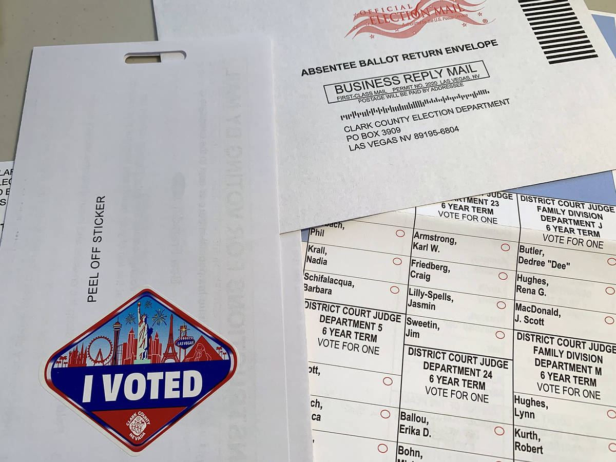 In an effort to help prevent the spread of COVID-19, the June primary election was conducted by ...
