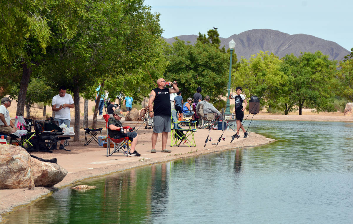 (Celia Shortt Goodyear/Boulder City Review) People were still able to come and participate in F ...