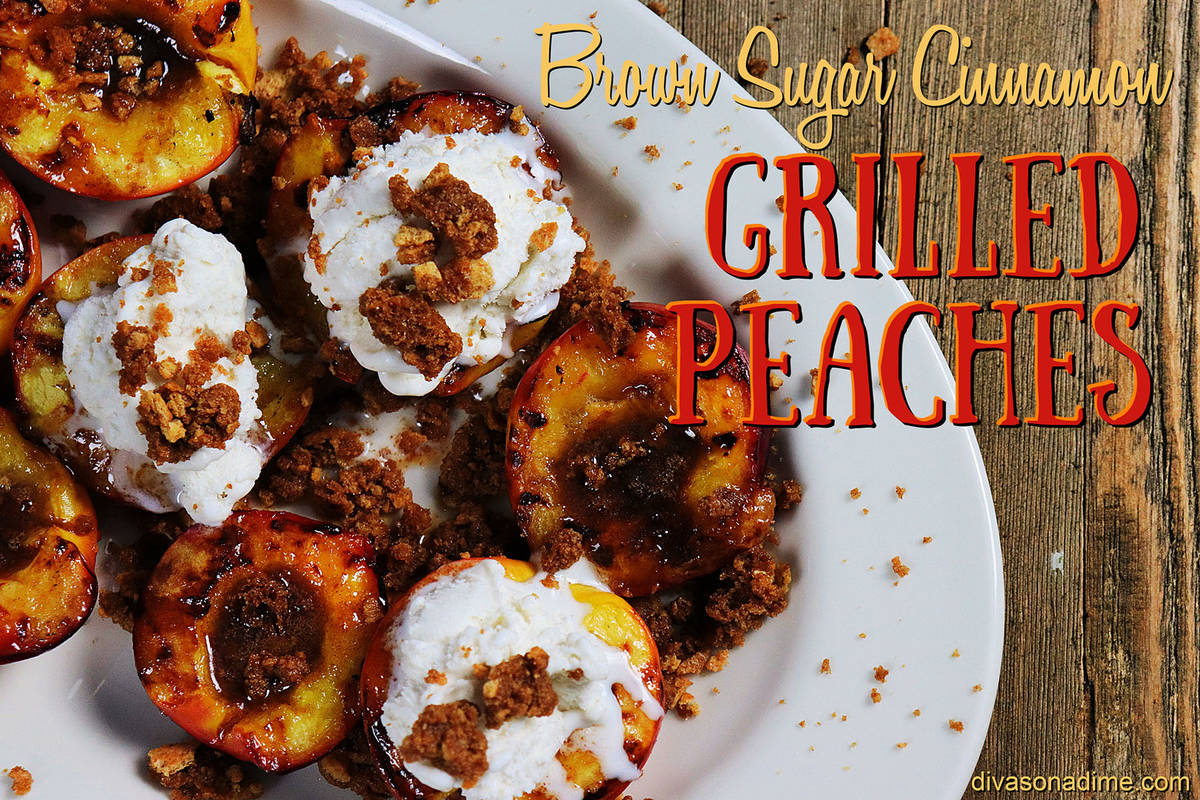 (Patti Diamond) A bit of heat and smokiness from the grill turns juicy peaches into a divine de ...