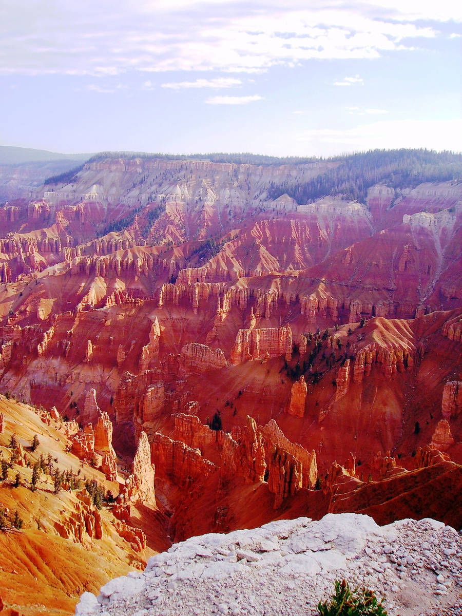 (Deborah Wall) Cedar Breaks National Monument's natural amphitheater is filled with lime ...