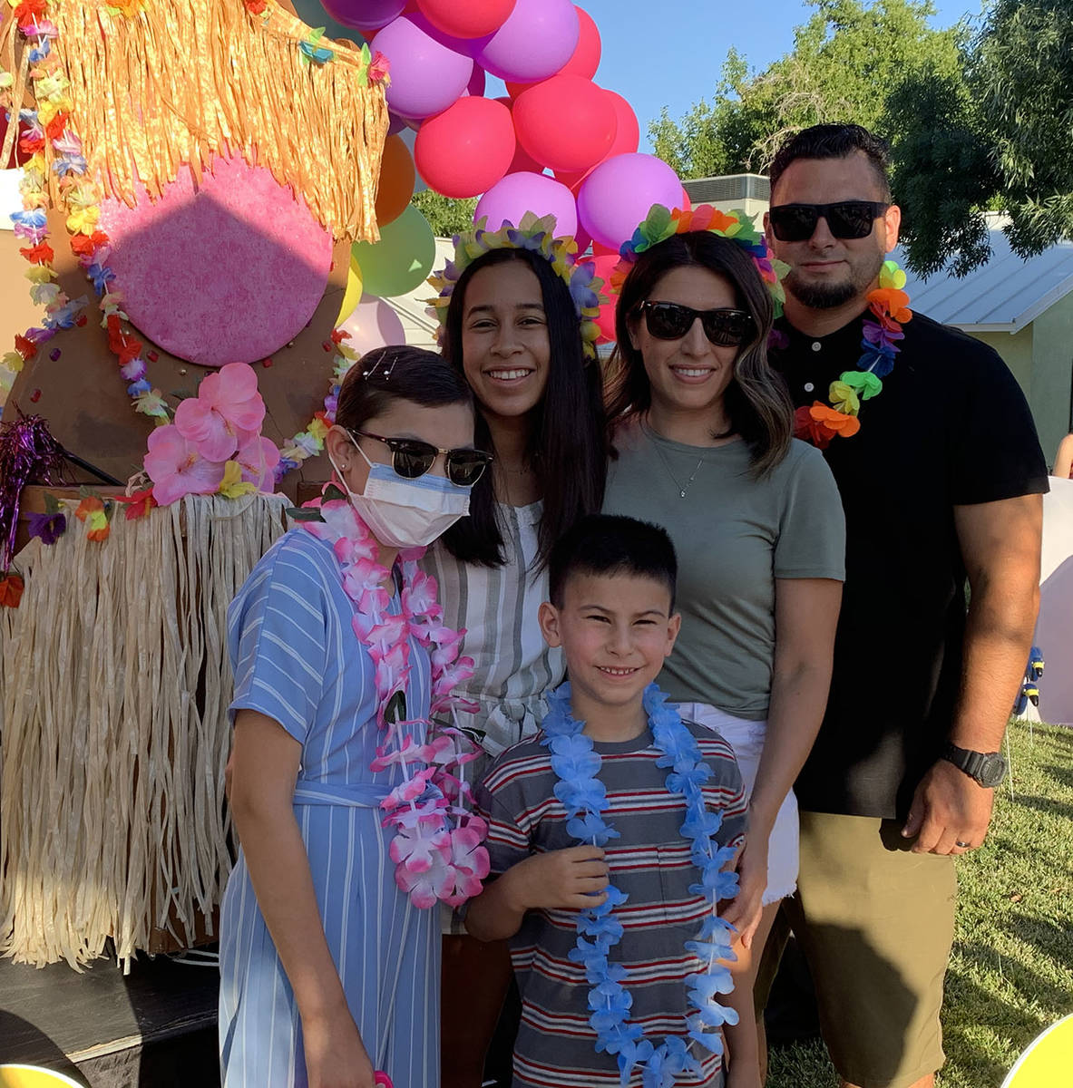 (Hali Bernstein Saylor/Boulder City Review) The Giamanco family, from left, Emilee, Natalee, Pr ...