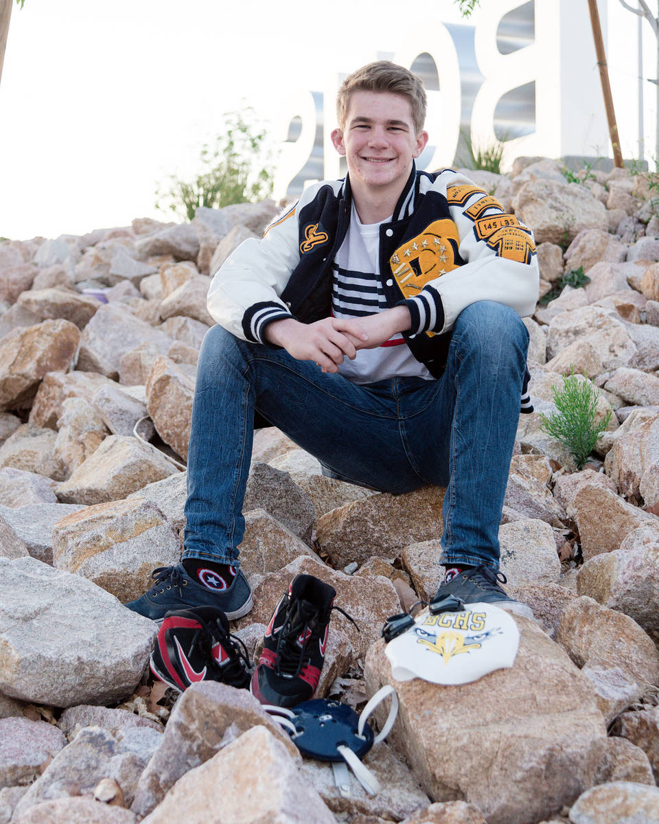 (Kim Cox) Ladd Cox, who just graduated from Boulder City High School, was named one of 10 schol ...