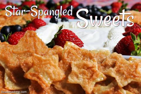 (Patti Diamond) A sweet and tangy dip along with colorful fruit creates a patriotic platter for ...