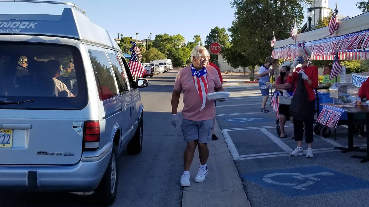 Celia Shortt Goodyear/Boulder City Review Dale Ryan passes out pancake breakfasts Saturday, Jul ...