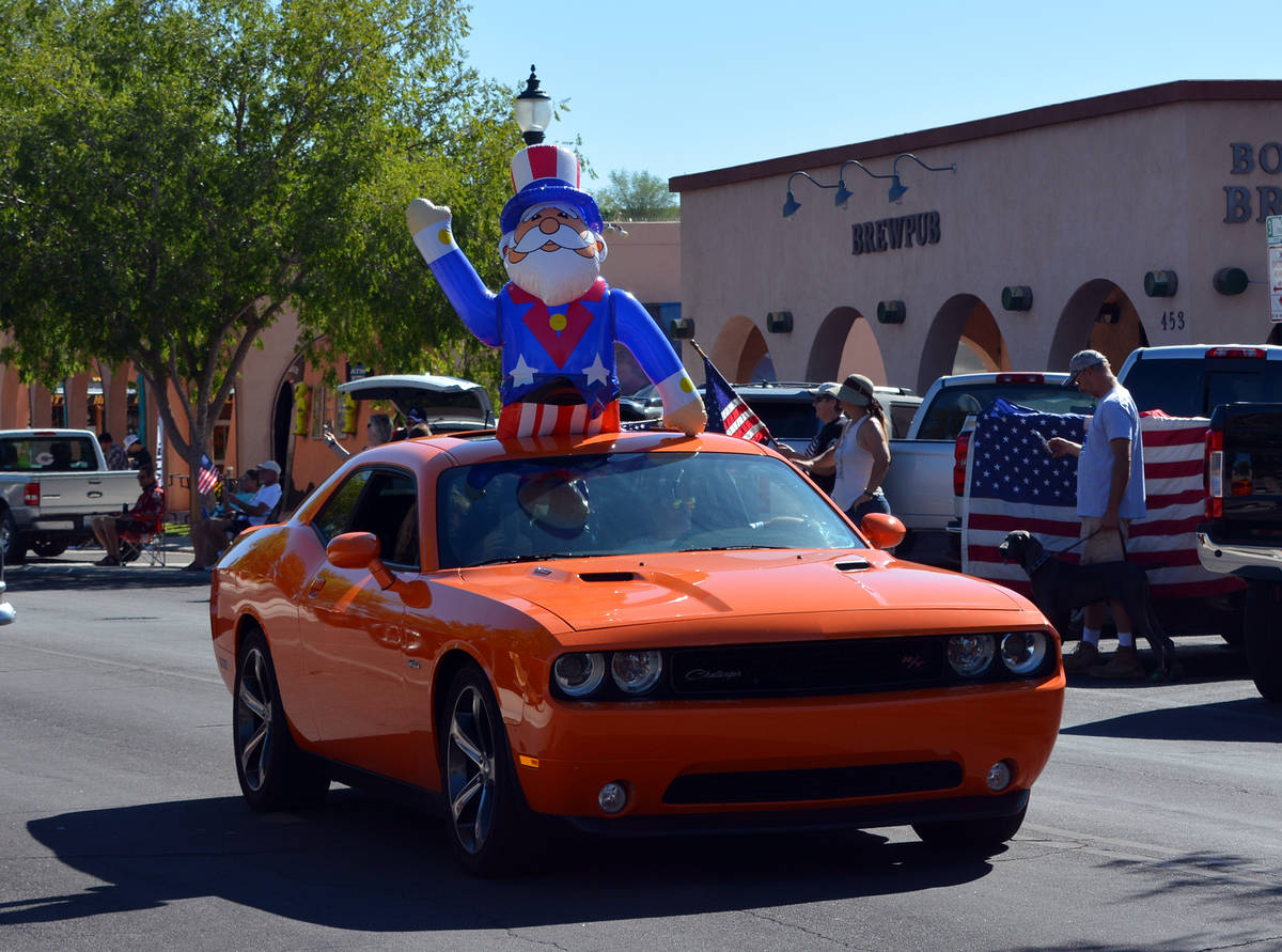 Celia Shortt Goodyear/Boulder City Review Uncle Sam made an appearance at the Independence Day ...