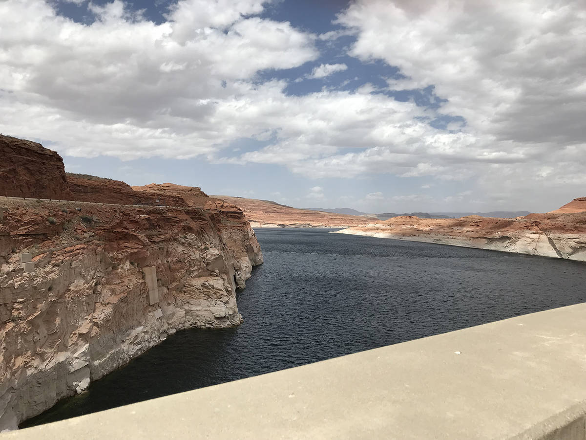 (Hali Bernstein Saylor/Boulder City Review) Water from Lake Powell, as seen from the Glen Canyo ...