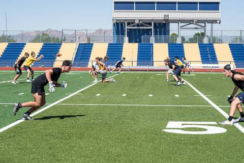 (Jamie Jane/Boulder City Review) Members of Boulder City High School's varsity football team ...