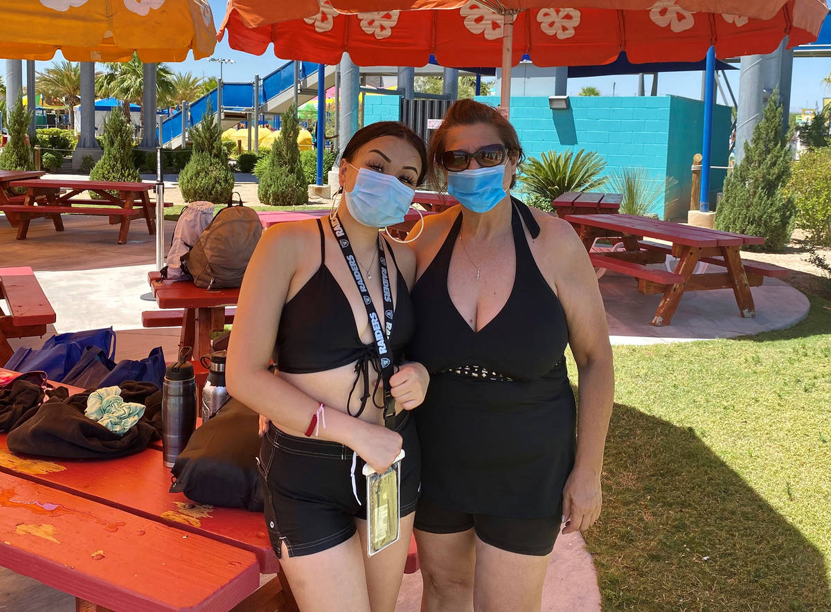 Paige Candee Marilyn Bazaldua, left, and her foster mother, Janene French, take some time out f ...