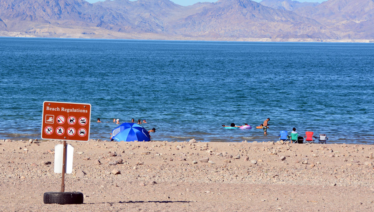 Celia Shortt Goodyear/Boulder City Parkway Boulder Beach in Lake Mead National Recreation Area ...