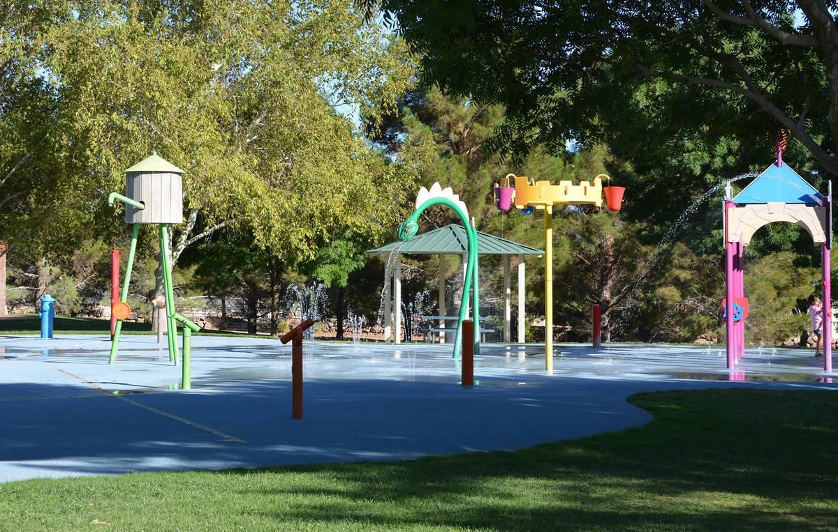 Celia Shortt Goodyear/Boulder City Review Boulder City's Splash Park at Veterans' Memorial Park ...