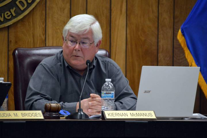 The Nevada Attorney General's office recently determined that Mayor Kiernan McManus' agenda it ...