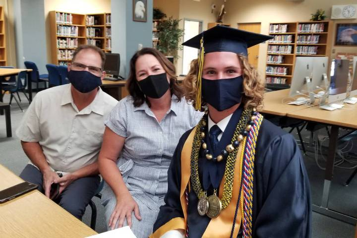 Celia Shortt Goodyear/Boulder City Review The Huxford family gets ready to celebrate the Boulde ...