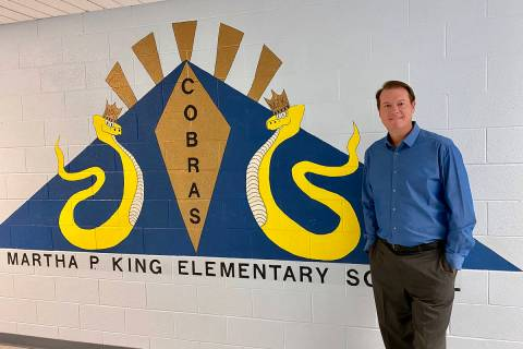 (Jason Schrock) King Elementary School's new principal, Jason Schrock, is excited to return th ...