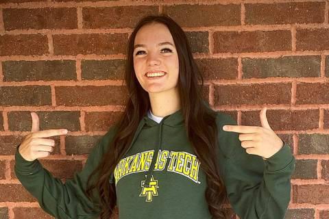 (Lisa Orton) Sierra Orton, a senior at Boulder City High School, visited the campus at Arkansas ...