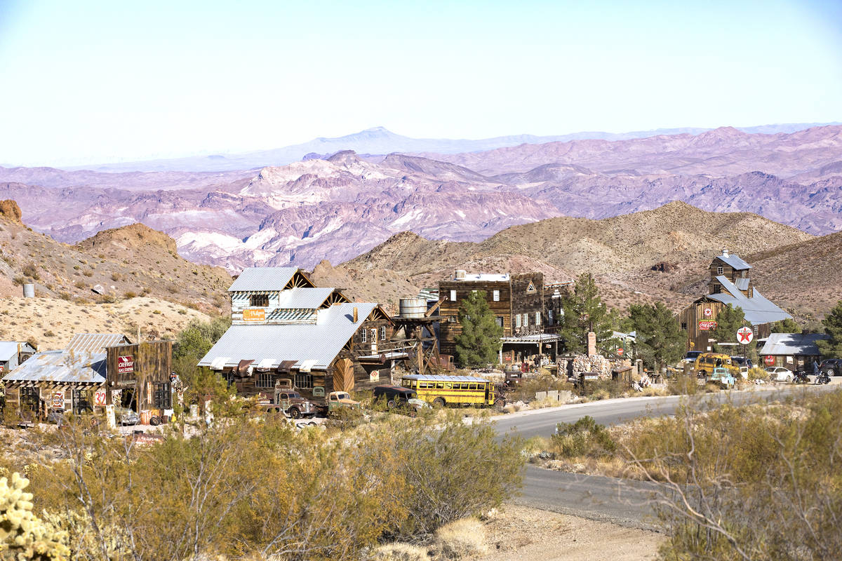 Rachel Aston/Las Vegas Review-Journal Nelson is a ghost town 45 minutes from Las Vegas. One hun ...