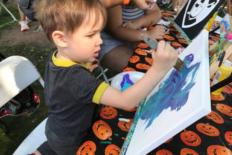 Fall and winter events such as Art in the Park, where Kailo Adduci of North Las Vegas created h ...