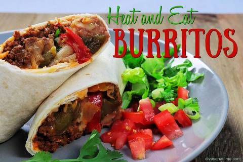 (Patti Diamond) By making burritos in advance and freezing them, you can easily answer the &#x2 ...