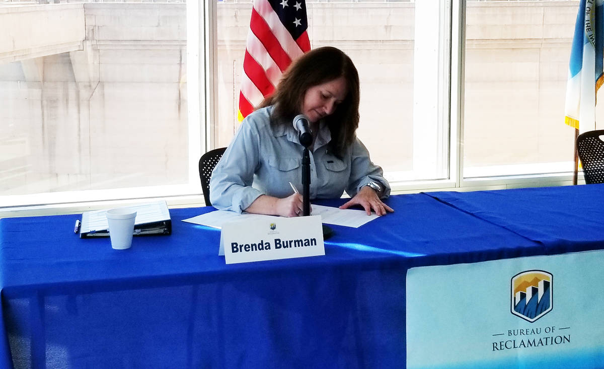 Celia Shortt Goodyear/Boulder City Review United States Bureau of Reclamation Commissioner Bren ...