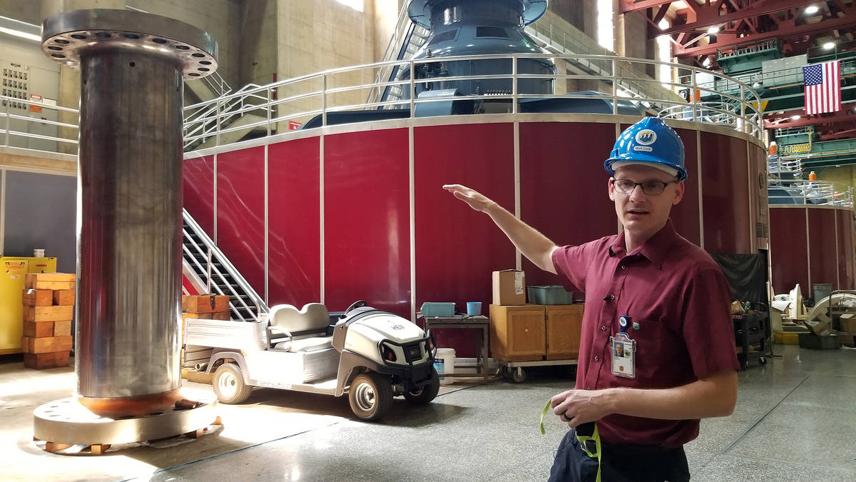 Celia Shortt Goodyear/Boulder City Review Hoover Dam Facility Manager Mark Cook discusses how t ...