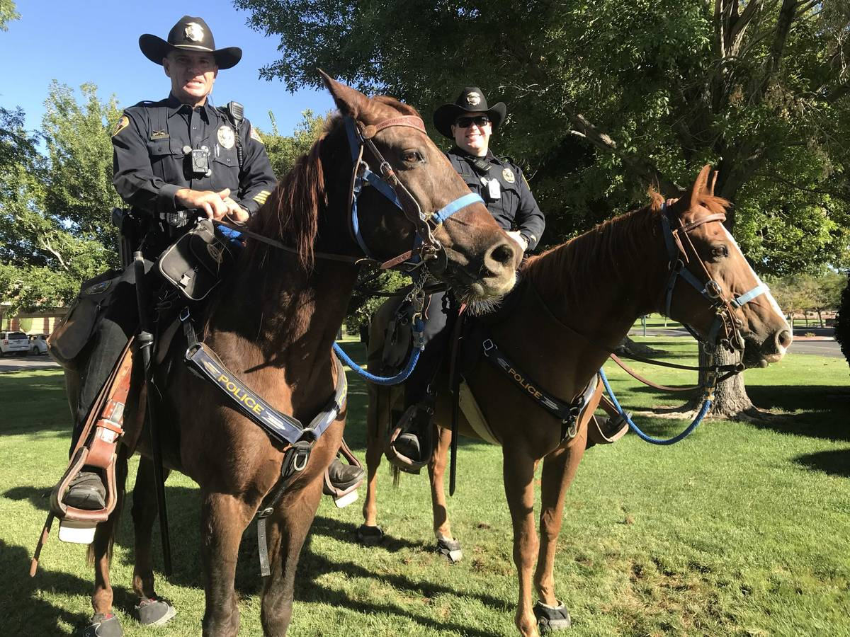 Boulder City Police Department is now required to have a voluntary mounted police unit, accordi ...