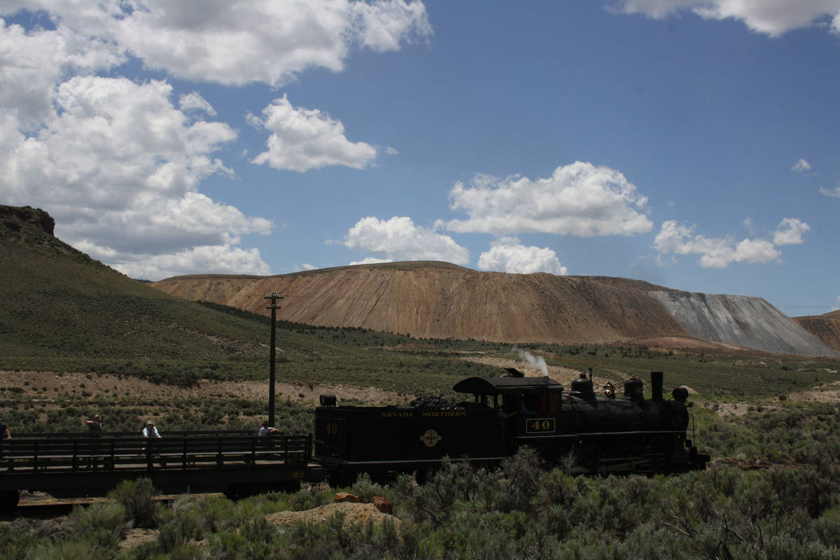 (Deborah Wall) The Nevada Northern Railway in Ely offers steam and diesel excursions.