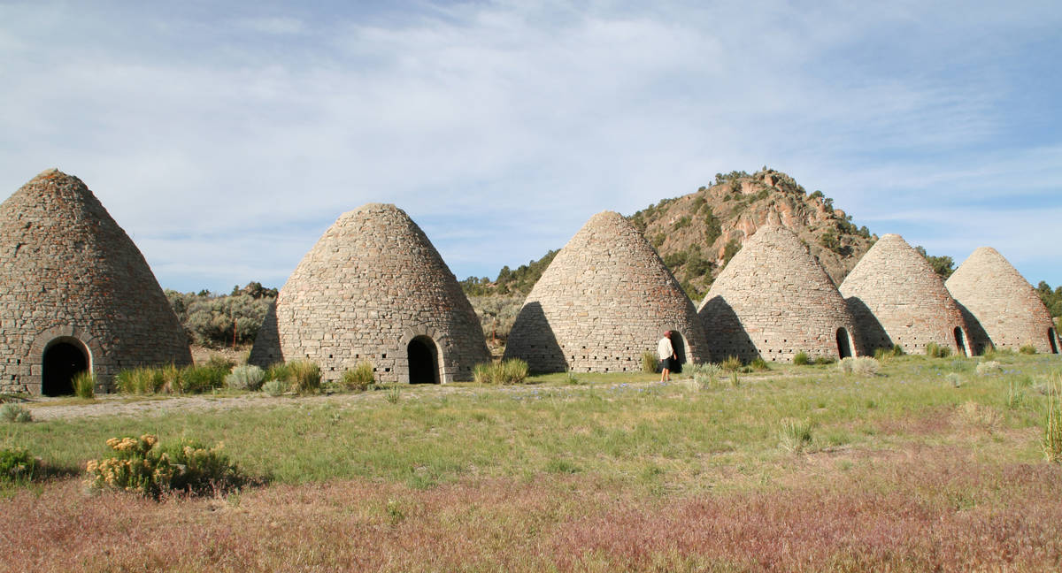 (Deborah Wall) Ward Charcoal Ovens State Historical Park is about 18 miles south of Ely.
