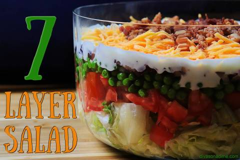 (Patti Diamond) A seven-layer salad can easily be made in advance, making it ideal for a Labor ...