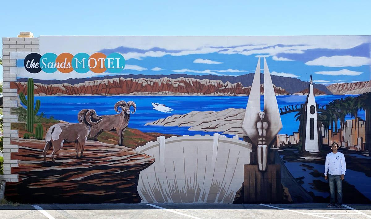 Oscar Garcia Las Vegas artist Oscar Garcia recently completed a mural at the Sands Motel, 809 N ...