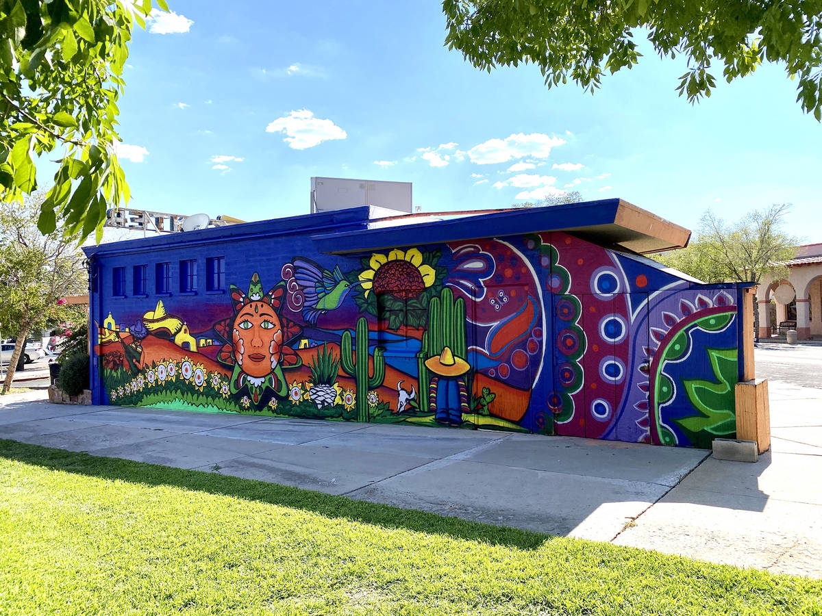 Oscar Garcia Las Vegas artist Oscar Garcia recently completed a mural in town at the Western an ...