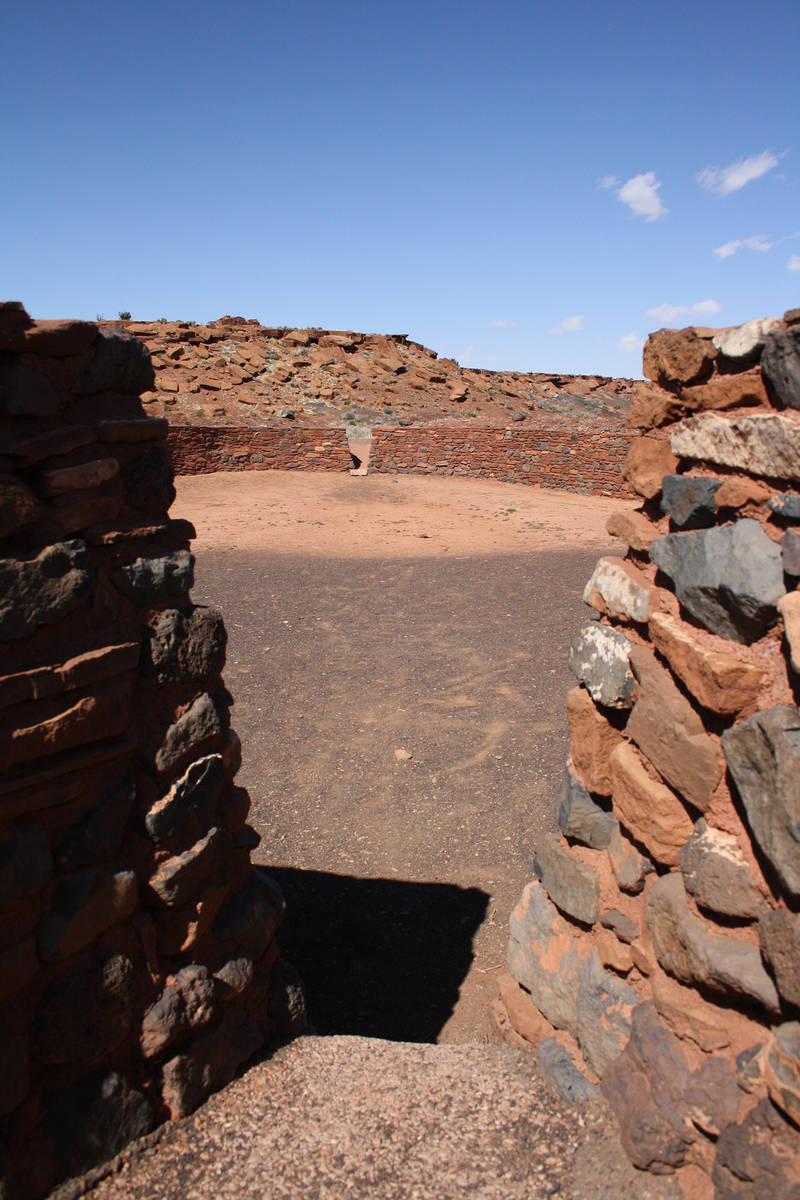 (Deborah Wall) The ceremonial ball court at Wupatki National Monument in Arizona is 102 feet lo ...