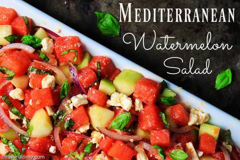 (Patti Diamond) Combine watermelon with cucumbers, crumbled feta cheese and purple onions to cr ...