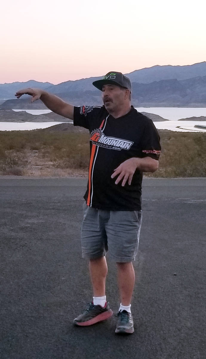 """Celia Shortt Goodyear/Boulder City Review Mike """"Downhill Mike"""" Scheur shares ideas about wh ..."""
