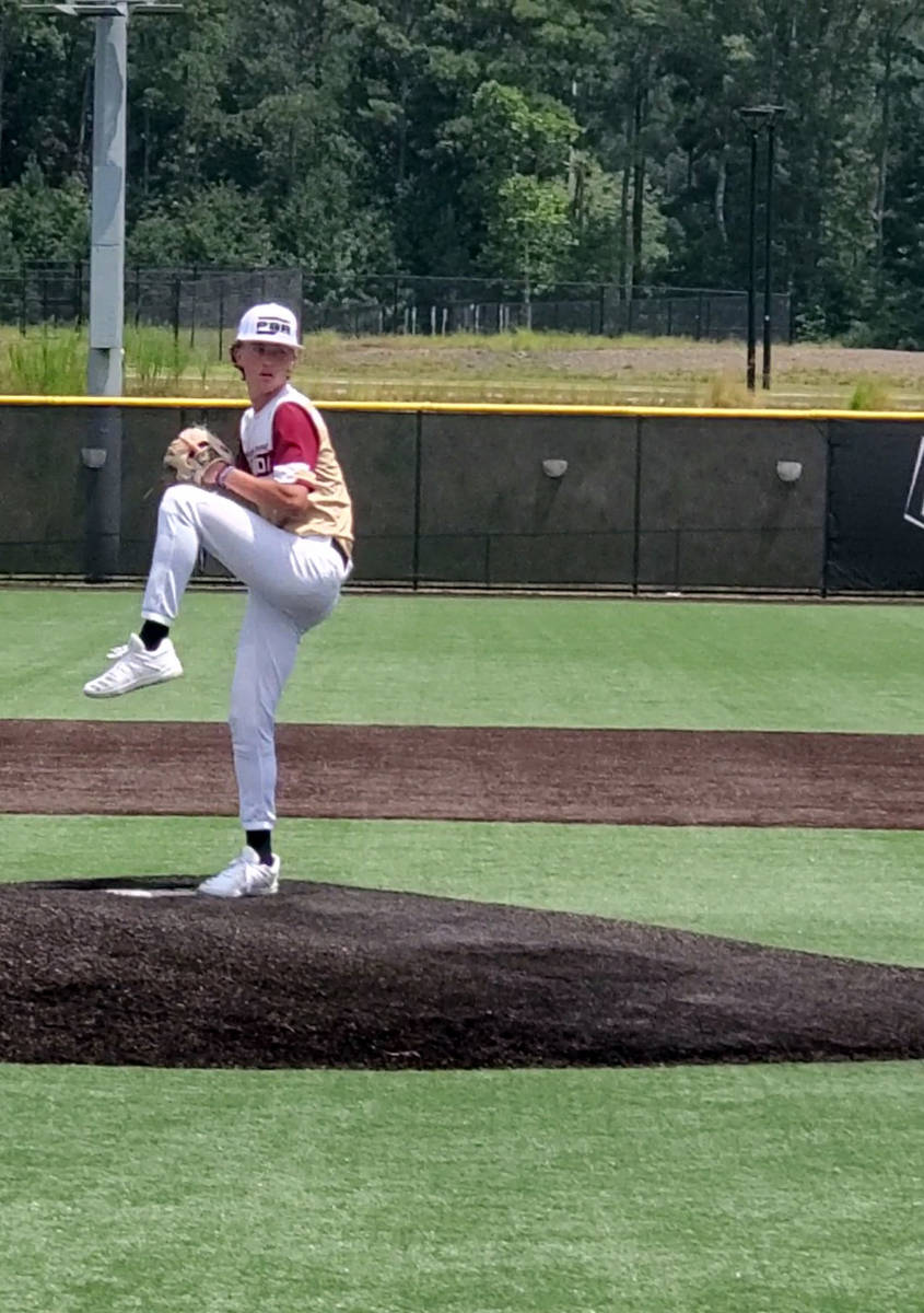 (Mark Pippin) Boulder City High School sophomore Seth Graham-Pippin showcases his pitching skil ...