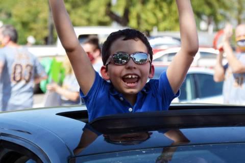 Celia Shortt Goodyear/Boulder City Review King Elementary School fourth grader Adam Pierfelice ...