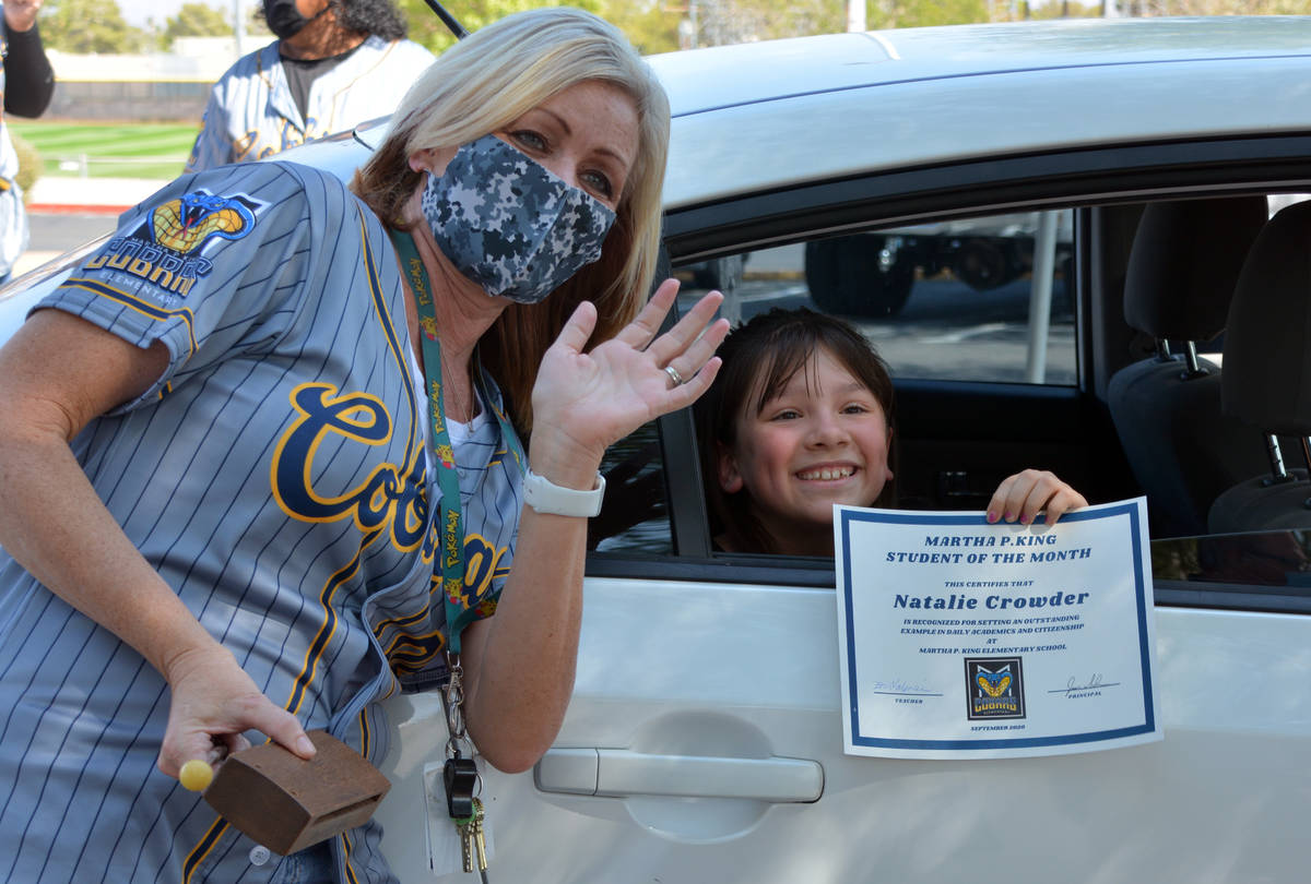 Celia Shortt Goodyear/Boulder City Review King Elementary School fourth grade teacher Erin Vale ...
