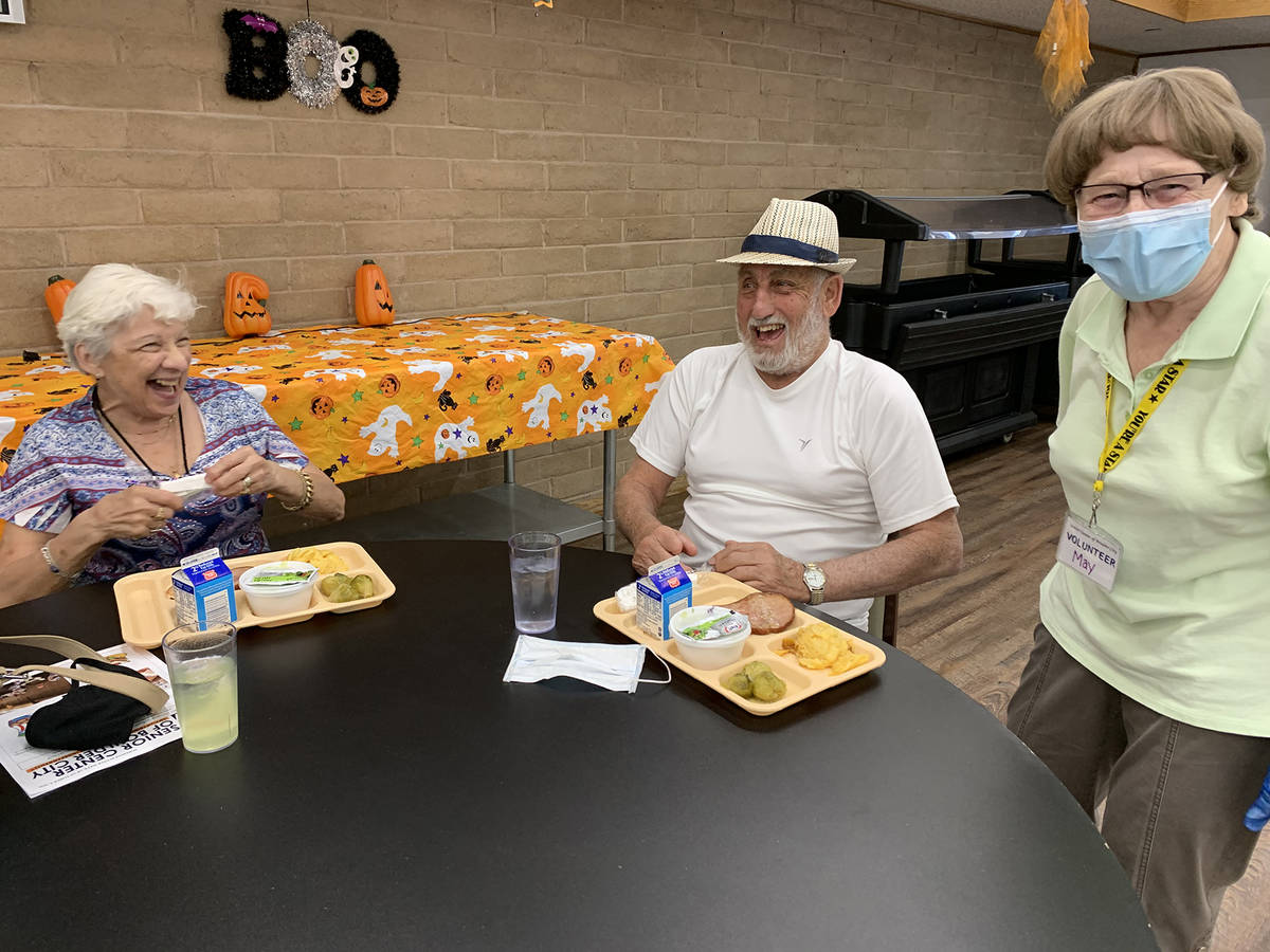 (Hali Bernstein Saylor/Boulder City Review) Joan and Frank Pomellitto, left and center, are ser ...