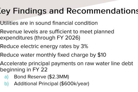 Boulder City Raftelis Financial Consultants Inc. is recommending the city reduce electricity ra ...