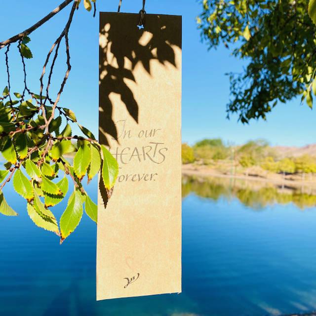 (Mary Lou Johnson) Weathergrams, created by Boulder City resident Mary Lou Johnson, honor the v ...