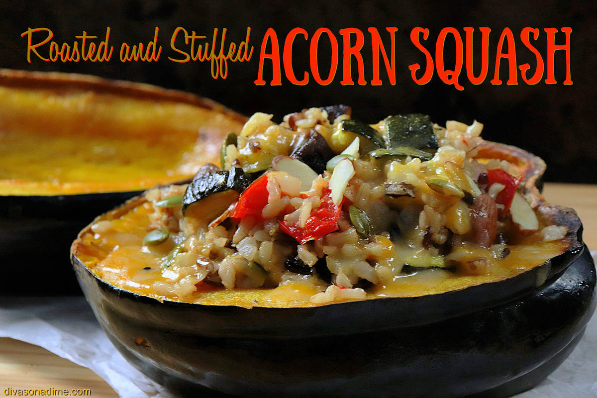 (Patti Diamond) Transforming a roasted acorn squash into a meal is simple with a mix and match ...