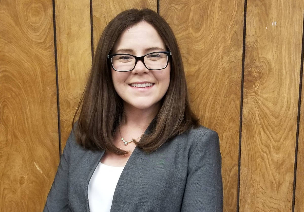 (Celia Shortt Goodyear/Boulder City Review) Brittany Lee Walker was appointed at the acting cit ...