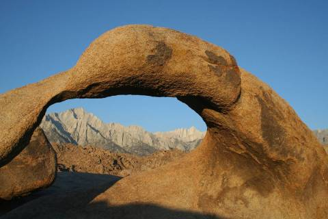 (Deborah Wall) One of the sights to see during a visit to Lone Pine, California, is Mobius Arch ...