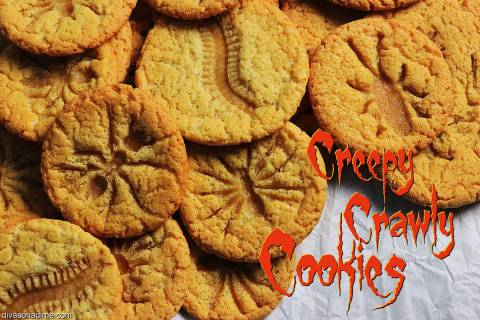 (Patti Diamond) Pressing plastic bugs into the tops of warm sugar cookies leaves creepy impress ...