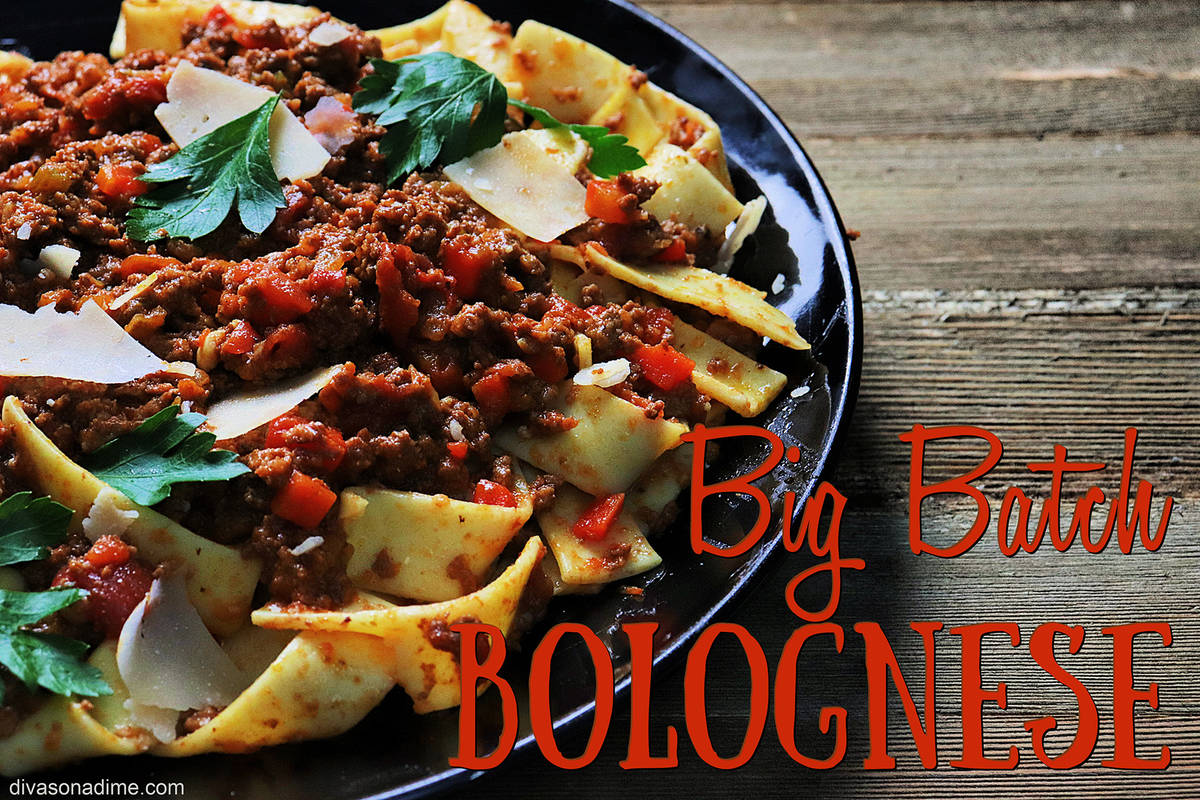 (Patti Diamond) Making a big batch of hearty Bolognese sauce, and then freezing it in meal-size ...